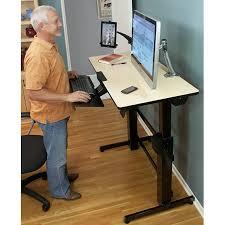Ergotron Sit Stand Desk Discount Ergotron Workfit D Sit Stand Desk Light Grey