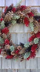 pinecone wreath christmas wreath large rustic pinecone wreath green and