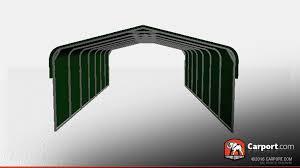 12x24 Carport 20 U0027 X 31 U0027 X 8 U0027 Strong Metal Carport With Closed Sides Metal Carports