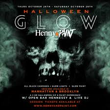 thurs in nyc halloween henny n u0027 paint glow tickets thu oct 26