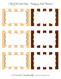 last minute free diy printable thanksgiving placecards labels
