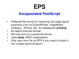 eps format vs jpeg file formats different applications programs store data in