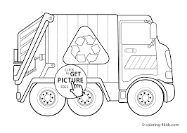 garbage truck transportation coloring pages for kids printable