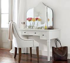 White Desk And Chair Meredith Vanity Desk Pottery Barn