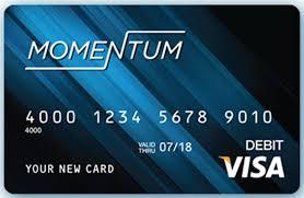 prepaid debit card no fees www momentumcard debit visa prepaid accounts