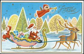 joyeux noel christmas cards vintage christmas card postcard joyeux noel santa