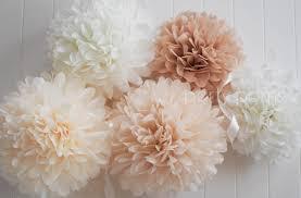 Pom Pom Crib Bedding by Neutrals 5 Tissue Paper Pom Poms Wedding Decoration