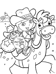 dora coloring pages for kids printable free coloing 4kids com
