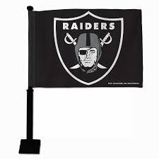 Oakland Raiders American Flag Amazon Com Nfl Oakland Raiders Car Flag Black Pole Sports Fan