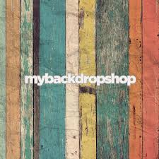 2ft x 2ft painted wood plank floor drop for commercial photos
