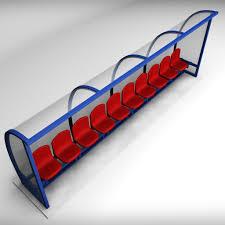 3d asset stadium seating reserve bench low cgtrader