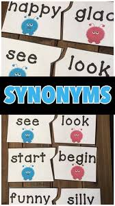 Synonyms Comfort Synonyms Group Work Literacy And Activities
