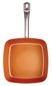 nonstick square ceramic frying skillet kitchen cookware copper fry