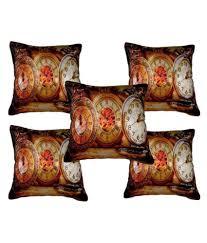 Home Decor Items Buy Online Nisha Home Decor Set Of 5 Velvet Cushion Covers Buy Online At
