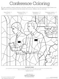 conference coloring page lds lesson ideas