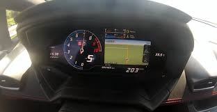 lamborghini huracan speedometer lamborghini huracan acceleration from 0 to 200 km h using thrust