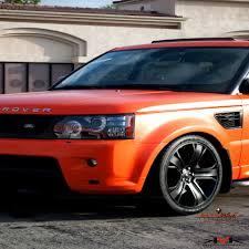 orange range rover sport satin orange rover sport wrapped by dbx diamond black exteriors