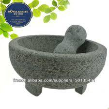 mortier de cuisine en marbre granit mortier de marbre et un pilon outil de cuisine à l ail