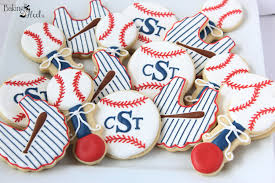 baby shower baseball theme baseball themed baby shower decorated sugar cookies it s