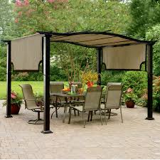 Patio Gazebos On Sale by Exterior Retractable Canopy With Backyard Garden Also Metal