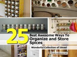 25 best awesome ways to organize and store spices
