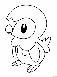 piplup pokemon coloring sheets images pokemon images