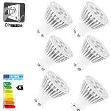 allcam 5w dimmable warm white led gu10 light bulb 220lm 35w