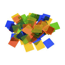 overhead color tiles math counting sorting