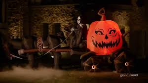 inflatable fire and ice pumpkin carriage grandin road youtube