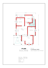 Free Home Plan Free 932 Sqft 2 Bedroom House Plan And Elevation