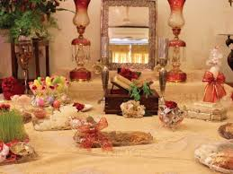 Iranian New Year Table Decoration by Jamshedi Nauroz May You Be Happy And Prosper This New Year Wish