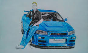 paul walkers nissan skyline drawing nissan tuning 220