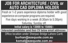 diploma holder civil or auto cad diploma holder required paperpk