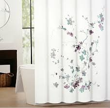 Plum Colored Bathroom Accessories by Tahari Printemps Purple Plum Gray Teal On White Cotton Blend