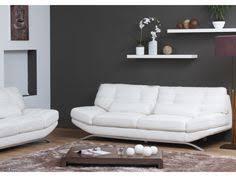 canap cuir blanc 3 places canapé 3 places en cuir supérieur coralie bicolore blanc et ivoire