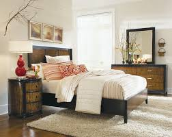 Black Panel Bed Kinston Shaped Panel Bed 6 Piece Bedroom Set In Black And Brown