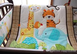 Giraffe Bedding Set Baby Bedding Set Embroidery Forest Animal Elephant Giraffe Tiger