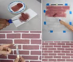 Fake Exposed Brick Wall 5 Ways To Diy A Faux Brick Wall Hirerush Blog