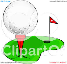 golf ball on tee with grass clip art clipart panda free