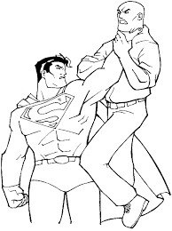 coloring superman stops gangster picture