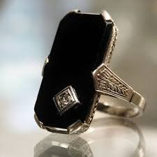 antique jewelry rings images Shop antique black onyx ring on wanelo jpg