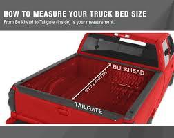Ford Ranger Truck Bed Dimensions - amazon com premium tct371031 tri fold tonneau truck bed cover