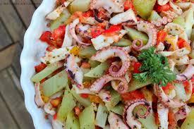 cuisiner poulpe frais salade de poulpe et christophine ou salade zourite chouchou à ma