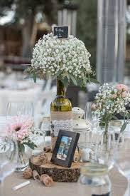 wine bottle centerpieces wine bottle centerpieces with baby s breath