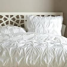 luxury white duvet sets organic cotton pintuck duvet cover shams