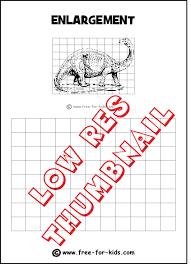 drawing grid enlargement worksheets for kids