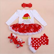 fashion newborn baby cotton rompers christmas tree tutu dress