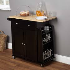kitchen luxury small portable kitchen island with black tone and