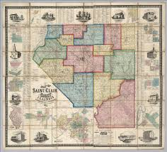 County Map Of Illinois Saint Clair County Illinois David Rumsey Historical Map Collection