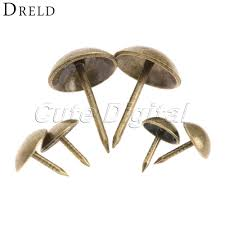 100pcs 9x9mm antique brass bronze upholstery nail jewelry gift